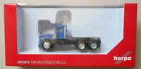 BLUE KENWORTH W900 SHORT TRUCK HERPA 1/87 Plastic HO Scale 15276