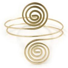 Egyptian Style Swirl Upper Arm, Armlet Bracelet In Gold Plating - 27cm L