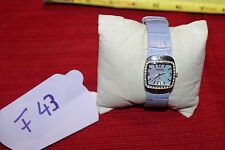 Woman Fossil Watch Purple Leather Band,Mother Of Pearls, F43 VERY NICE