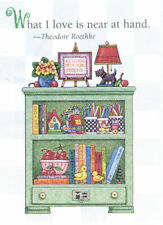 What I Love Is Near At Hand Bookcase-Handcrafted Magnet-w/Mary Engelbreit art