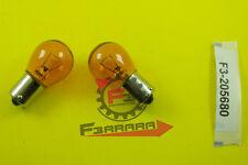 F3-205680 Lampada Lampadina 12V x 21W Sfera BA15S ARANCIO fanale Moto Scooter