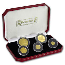 1996 Isle of Man 5-Coin Gold Burmese Cat Set (w/box and COA)