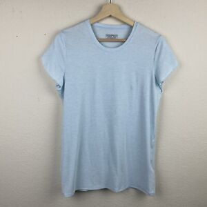 PATAGONIA Light Blue GLORYA Petal Sleeve MEDIUM Quick Dry Crew Neck Shirt F69