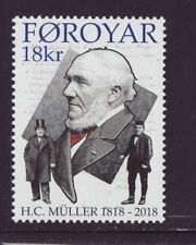 Faroe Islands 2018 MNH - H.C.Müller 200 years - Politican - set of 1 stamp