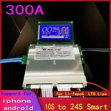 300A Smart Lithium Battery Protection Board Balance BMS Lipo lifepo4 LTO 10S 24S