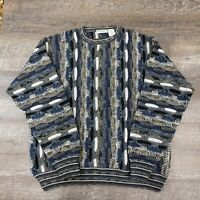 Vintage 90s Norm Thompson Coogi Style Sweater Biggie Cosby Mens XL Wool Blend