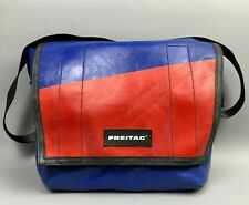 FREITAG Dexter Red Blue Bag Messenger Tasche Cycling Crossbody Strap Large Bag