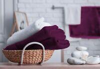 Luxury 100% Cotton Towel Bath Sheet Bathroom Shower Large Sheets Plum Towels Set