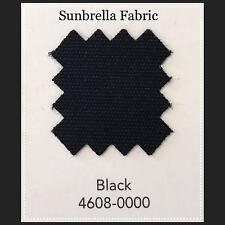 """Sunbrella Fabric 46"""" Wide Black  By the Yard"""