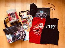 Taylor Swift Speak Now Red 1989 Tour VIP Package Souvenir Blanket Tee Cap Tote