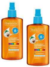 2x BIELENDA SUPER SUNTAN ACCELERATOR DOUBLE-PHASE SPF6,UVA,UVB COCONUT OIL SET