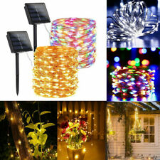 100 200LED Solar Power String Lights Waterproof Copper Wire Fairy Outdoor Garden