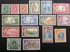 JAMAICA. 1938  KGVI. Complete Set 1/2d-£1 (16). MLH
