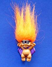 BUY1&GET1@50%~Russ PIN Halloween NOS TROLL Doll Purple CAPE ORANGE Hair Vtg STKR