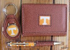 Tennessee Volunteers Football NCCA Brown Tri-Fold Wallet keyring Pen Gift Set