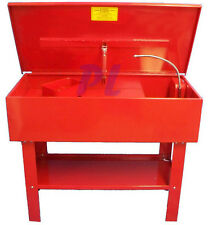40 Gallon PARTS WASHER Cleaner w/ Electric Solvent Pump Shelf Tank