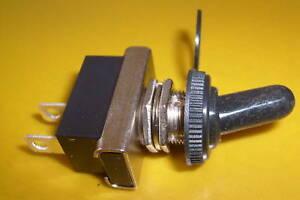 ON/OFF Metal Toggle Flick Switch 12v waterproof cover car dash light 24v 12 volt