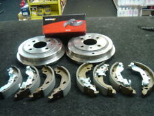 FIAT PUNTO MK2 8V 16V JTD REAR BRAKE DRUMS BRAKE SHOES NON ABS