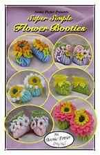 Crochet Super Simple Flower Booties baby bootie pattern