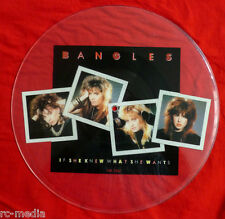 THE BANGLES-If She Knew What She Wants - Rare UK Uncut Picture Disc