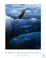 "NEW! Whale Trio 16x20"" Fine art print by Dobrowolski"