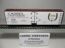 CASSEL VINEYARDS 40' Steel Side Reefer Car #80 Kit (Limited Edition)by K&D Hobby