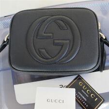 Authentic Gucci Soho Bag Disco Crossbody Handbag black Nubuck Leathe 308364
