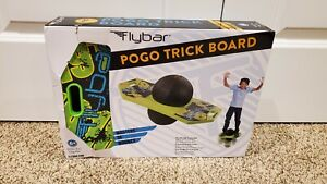 Flybar Pogo Ball For Kids, Jump Trick Bounce Board With Pump And Strong Grip