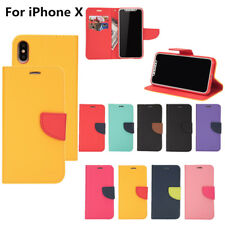 For iPhone XS Max XR 8 6 7+ Magnetic Flip PU Leather Case Wallet Card Slot Cover