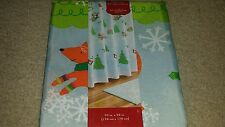 NWT St Nicholas Square Oh What Fun Fabric Shower Curtain Christmas Holiday Cute!