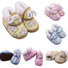 Newborn Baby Girls&Boys Winter Cartoon Warm Shoes Fluff Footwear Crib Shoes UK