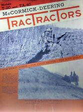 T-20 TA-40 International TracTracTor Crawler Tractor FULL COLOR Sales Brochure