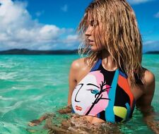 Costume Da Bagno Stampa Astratta lacci Tankini string sling Swimwear Swimsuit S