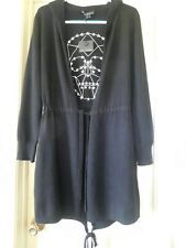 New SKULL CASHMERE 360 Easton Long Black Hoodie Sweater - Size M