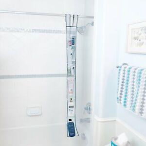 Hanging Shower Caddy Shower Rod Fabric Shower Caddy Quick Dry Bathroom Organizer