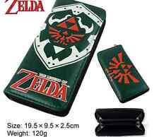 Anime The Legend of Zelda Wallet Ocarina of Time Zipper Leather Coin Long Purse