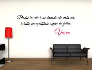 Adesivo Vasco Rossi Perchè la vita è un brivido che vola via murale wall sticker