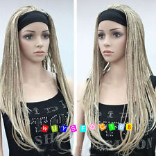 Unique Beautiful Blonde mix man-made braided wig + Free wig cap NO:255