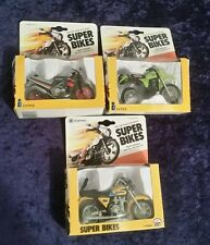 1982 INTEX Super Bikes Vintage 1:18 KAWASAKI Motorcycles 3 ct. Lot  Mint in Box