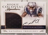 Malcolm Mitchell 2016 Panini National Treasures RC Relic On Card Auto /99 Pats