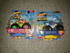Hot Wheels Monster Trucks Volkswagen Beetle Neon Shockers & Race Ace