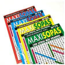 2 x Libros de entretenimiento MAXISOPAS letras Grandes 50 páginas