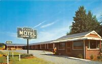 Cartersville Georgia GA 1960s Postcard Scott's Motel