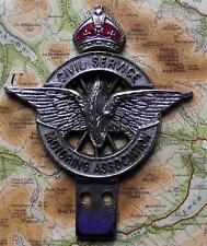 Vintage Car Mascot Badge : Civil Service Motoring Association Kings Crown K