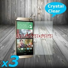3x Front Clear LCD Screen Protector Guard Shield Film Fit HTC ONE M8 14 Version