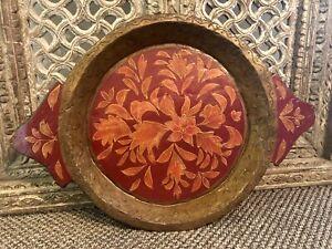 Tibetan Handmade Wooden Bowl, Fruit Bowl, Salad Bowl