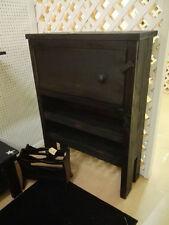 Handmade rustic black cabinet, 50x13x37