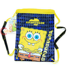 Nickelodeon Sponge Bob Cinch Bag Draw String Backpack Sling Sack