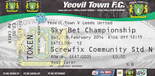 Yeovil Town v Leeds United Ticket 08/02/14 (2013/14) Sky Bet Championship
