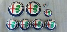 KIT COMPLETO 8 PZ logo stemma fregio neri ALFA ROMEO 147 156 159 166 MITO new